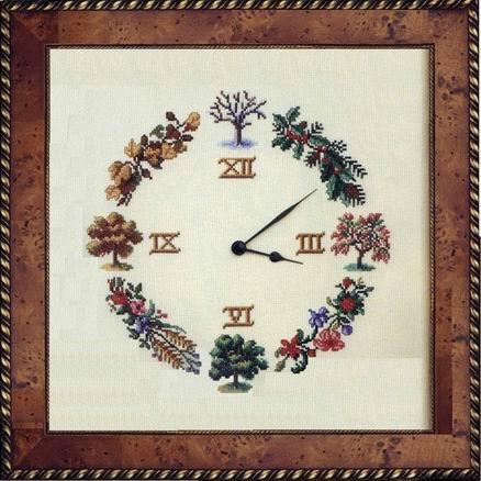 Schema punto croce orologio stagioni 1a for Orologio punto croce schemi gratis