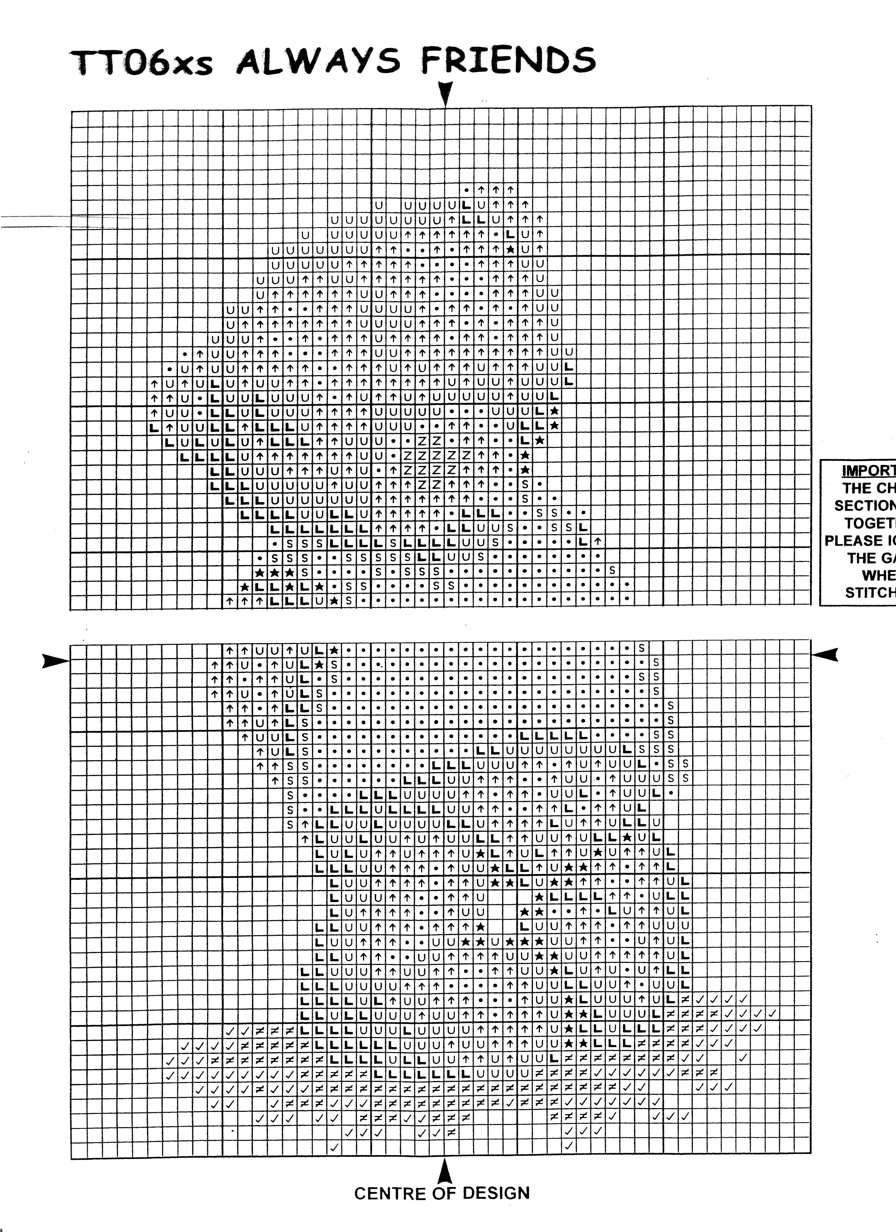 схема вышивки кроестом тедди