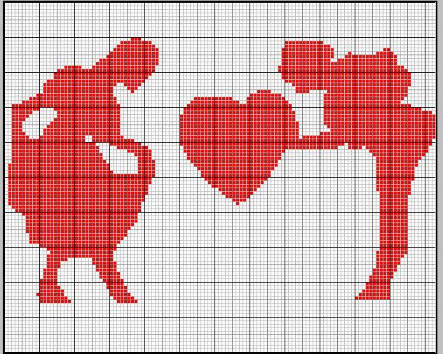 Schemi Cuore Regalo Cuore Galante Punto Croce San Valentino 4