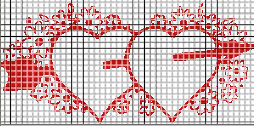 Schemi Punto Croce San Valentino