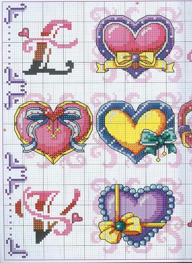 Schema punto croce Love 2