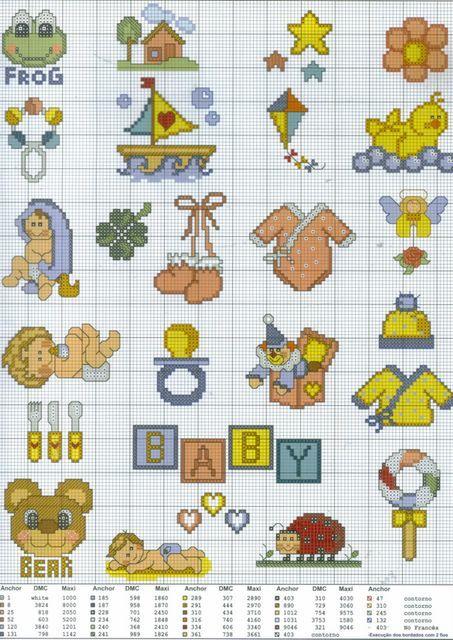 Schemi Di Punto Croce Per Neonati Fare Di Una Mosca