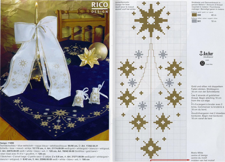 Новогодняя салфетка для вышивки 222